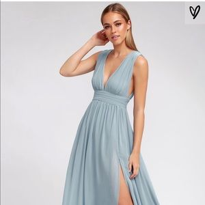 Maxi heavenly hues light blue dress ( lulu's )